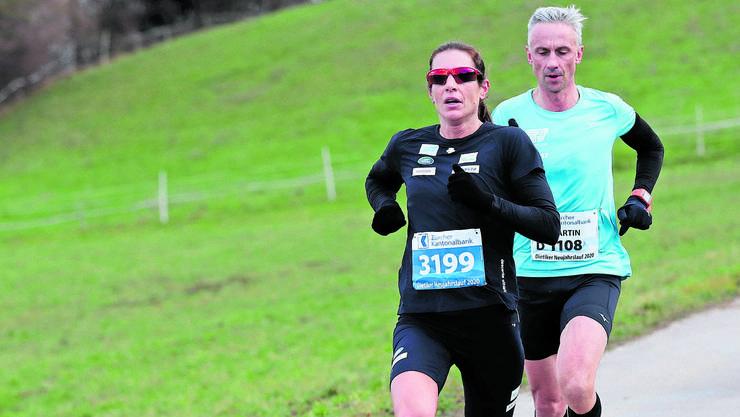 Nicola Spirig auf dem Weg zum Streckenrekord.