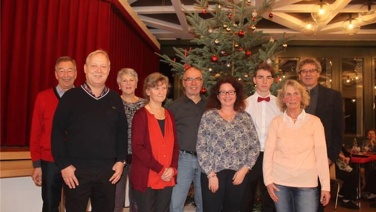 Das Team, das vielen Menschen eine Freude macht (v. l.): Robert Gerber, Peter Brotschi, Veronika Gerber, Ursula Peters, Albert Birkicht, Henriette Birkicht, Manuel Birkicht, Monika Dietschi undMarcel Horni.