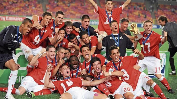 Das legendäre Jubelbild: Die Schweizer U17 in Ekstase nach dem Sieg im WM-Final 2009.