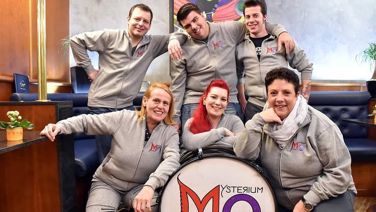 Marco Welti, Silvio Hürzeler, Mario Gerber, Eveline Egli, Lea Zwimpfer und Gabi Hürzeler wollen mit ihrer neuen GuggeMysterium Oltensis nächstes Jahr voll durchstarten.
