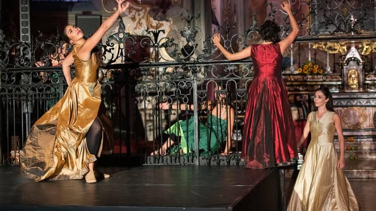 «feu sacré», eine Produktion der Tanzcompagnie Flamencos en route, im Kloster Fahr, Premiere 29. August 2019.