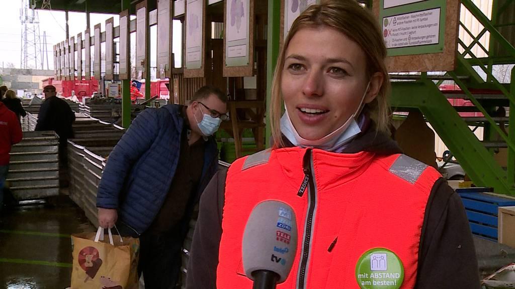 Nach Feiertagen: Grosser Andrang in Aargauer Recyclinghöfen