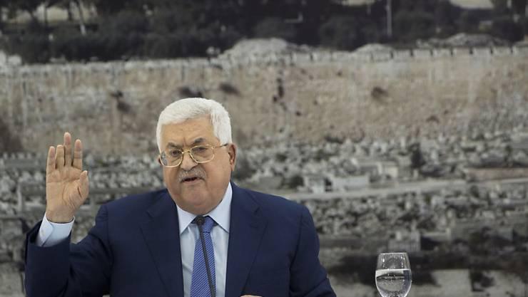 """""""Das müssen wir sofort umsetzen"""": Palästinenserpräsident Mahmud Abbas kündigt Neuwahlen an. (Archivbild)"""