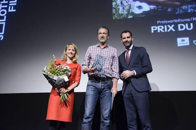 Seraina Rohrer, Preisträger Bernard Weber und Andreas Fischer (Swiss Life)