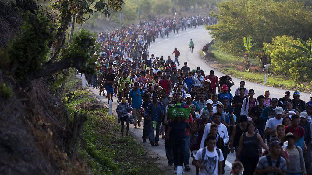 Die Vereinigten Staaten als Ziel: Migranten aus Zentralamerika zu Fuss unterwegs in Mexiko. (Archivbild)
