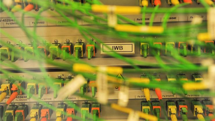 Im Datencenter der IWB.