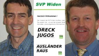 Vorstand der SVP Widen wegen rassistischer Slogans verurteilt.