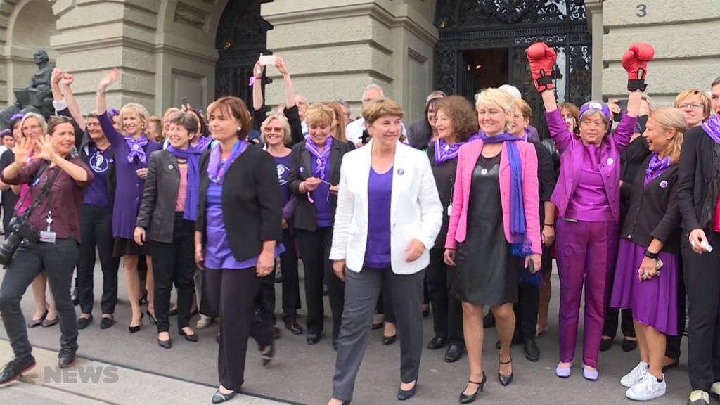 Frauenstreik Bundeshaus