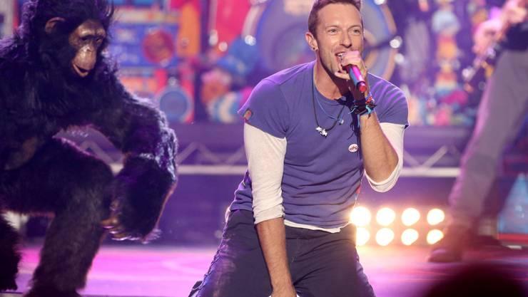 Coldplay (Bild: Sänger Chris Martin) wird nicht erfreut sein über den Betrug ihrer Konzerttickets.