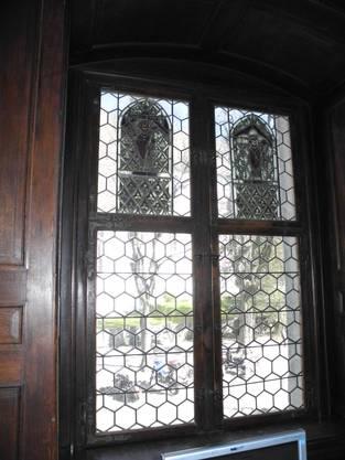 Blick durchs Fenster nach draussen