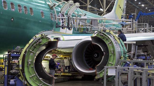 Eine Boeing 737 Max im Bau (Archiv)