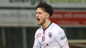 Unterschreibt beim FC Aarau seinen ersten Profivertrag: Innenverteidiger Binjamin Hasani, 17 Jahre alt
