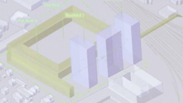 Eine Visualisierung mit den beiden möglichen Varianten zum Stadionneubau wird an der Medienorientierung zum geplanten Stadion Torfeld Süd präsentiert, am 1. Mai 2017 im Stadthaus Aarau.