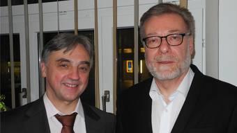 VZD-Präsident Elio Frapolli (links) freute sich, dass Markus Notter an der Generalversammlung das Gastreferat hielt.