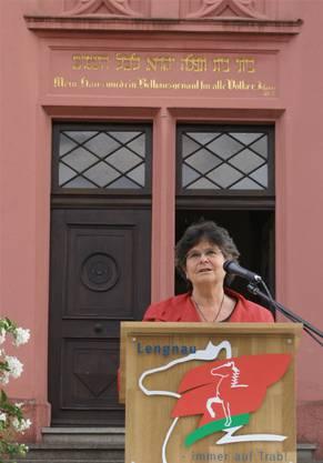 Alt-Bundesrätin Ruth Dreifuss eröffnete vor 10 Jahren den jüdischen Kulturweg.