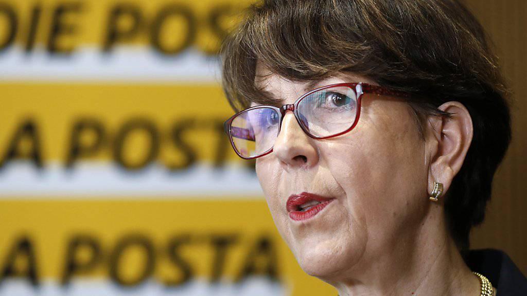 Post-Chefin Susanne Ruoff will die Poststellenreform trotz Kritik durchziehen.