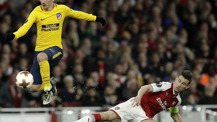 Arsenals Laurent Koscielny (rechts) verpasst nach einem Achillessehnenriss in Madrid die WM-Endrunde in Russland