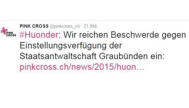 Tweet Pink Cross