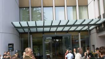Der neue Haupteingang des Gemeindehauses. (ach)