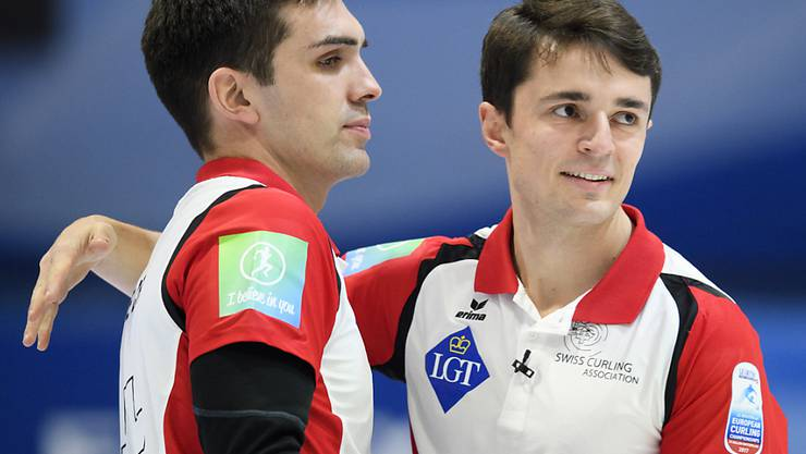Die Genfer Schlüsselspieler Peter De Cruz, (links) und Benoît Schwarz, dürfen vor den kommenden Aufgaben zuversichtlich sein