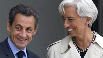Sarkozy (l.) und Lagarde