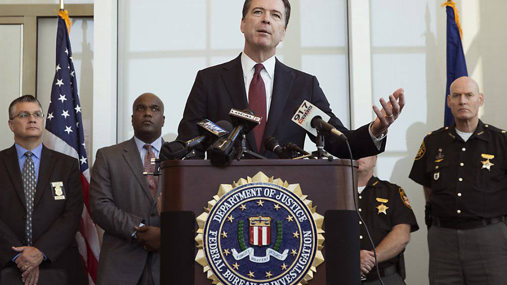 FBI-Direktor James Comey informierte über den gesprengten Zuhälter-Ring