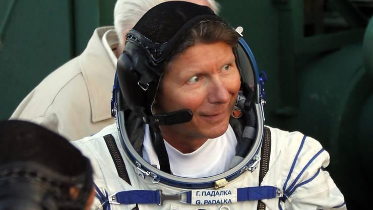 Gennadi Padalka vor einem Start einer Mission zur ISS