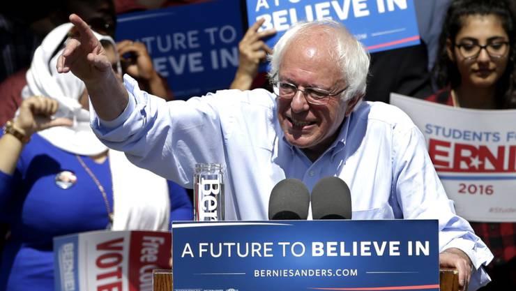 Trotz seines Sieges in West Verginia bleibt er praktisch chancenlos im Rennen um die demokratische Präsidentschaftskandidatur: Bernie Sanders.