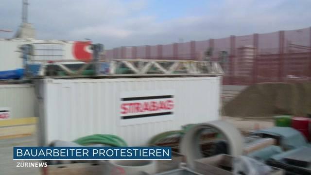 Bauarbeiter streiken
