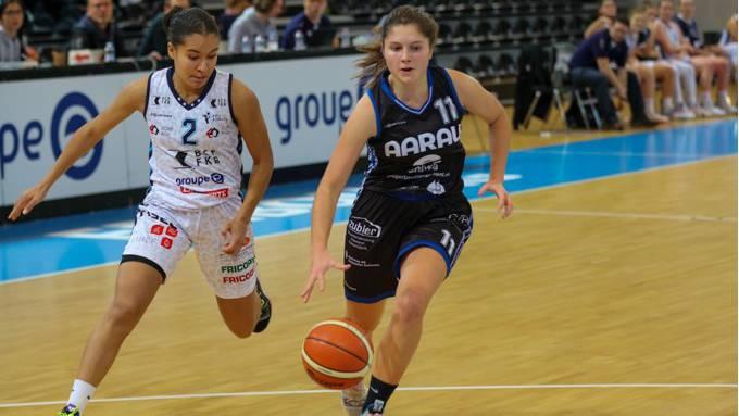 Das Damenteam des BC Alte Kanti Aarau unterliegt Fribourg mit 60:81.