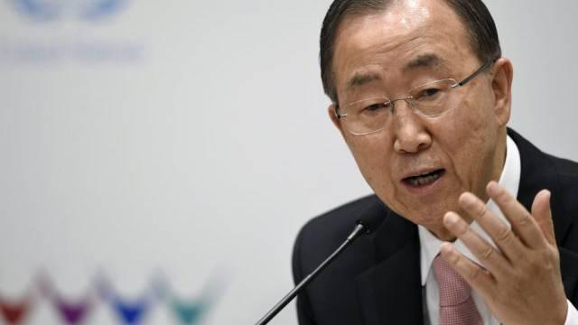 UNO-Generalsekretär Ban Ki Moon in Sendai