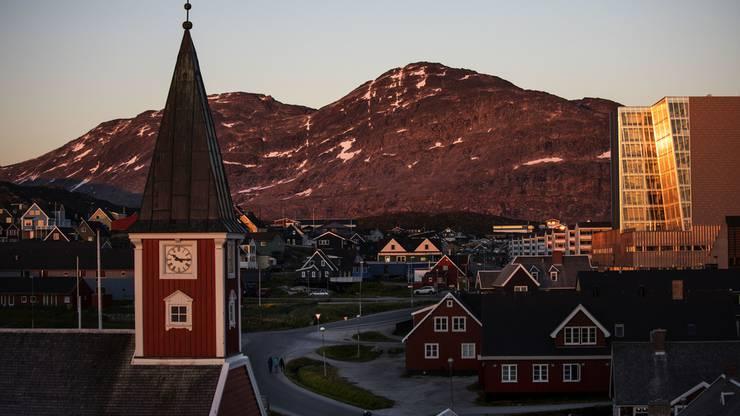 Blick auf Nuuk, die Hauptstadt von Grönland.