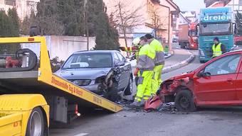 Frontalkollision in Gränichen