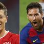 Lewandowski und Messi.