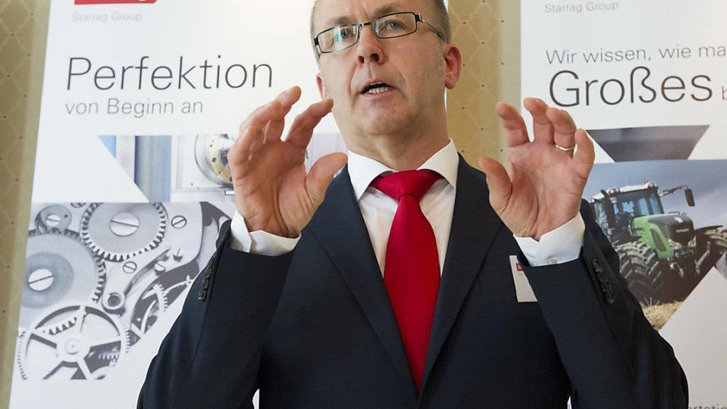 Starrag-Konzernchef Walter Boersch bei einem Auftritt im vergangenen März in Zürich. (Archivbild)