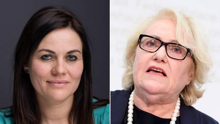 Fehde zwischen Feministinnen: Jolanda Spiess-Hegglin und Julia Onken.