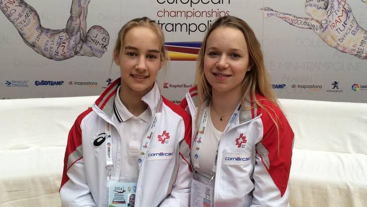 Emily Mussmann (links) und Sylvie Wirth überzeugten an der EM in Spanien und schafften den Einzug in den Halbfinal.