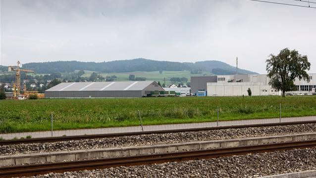 Das Industriegebiet von Gontenschwil im Mättenfeld.