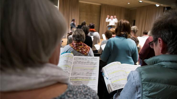 Intensive Proben in Bettlach zu Bachs Weihnachtsoratorium.
