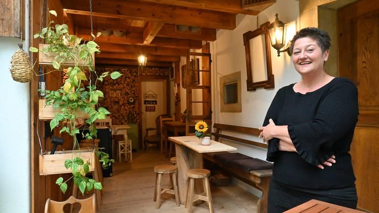 Die Besenbeiz ist ihr Projekt: Mirjam Leemann zeigt ihr Reich in Trimbach.