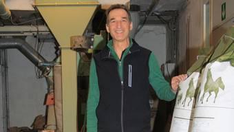 Thomas Bieli setzt sich als Geschäftsführer für die landwirtschaftliche Genossenschaft Muhen ein. cfü