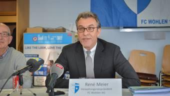 René Meier rollt an der einberufenen Pressekonferenz des FC Wohlen den Fall Wellington von A bis Z auf, wie er ihn erlebte