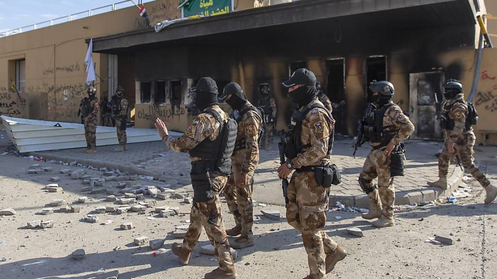 Gespannte Ruhe nach Protesten gegen die USA im Irak