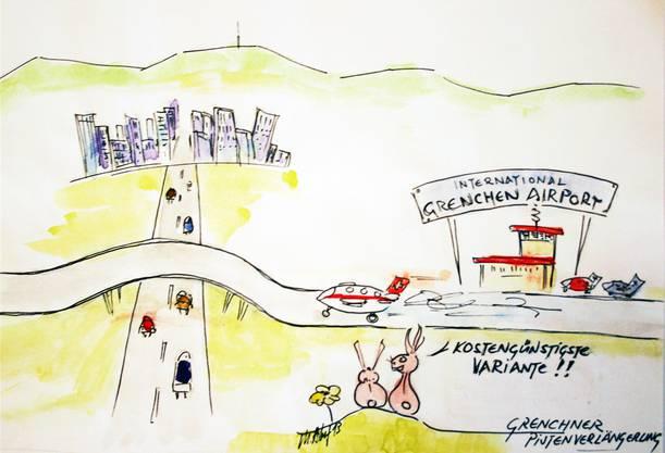 Es muss nicht immer eine Strassenunterführung sein: Auch die Pistenüberführung wäre eine Möglichkeit.