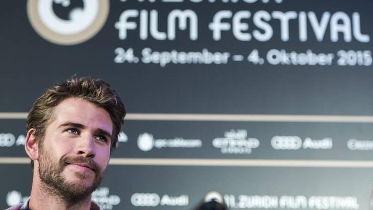 Schauspieler Liam Hemsworth am Zurich Film Festival 2015