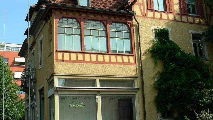 Bauprofile künden vom geplanten Abbruch des Pfyfferhuus. DM
