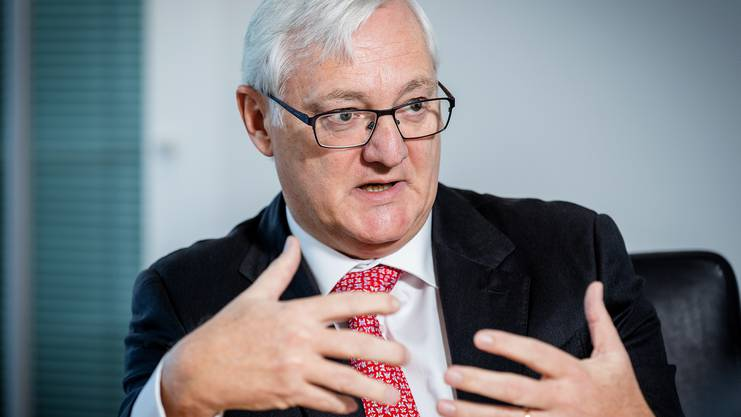 Chairman of the Board at ABB Peter Voser during the Interview.