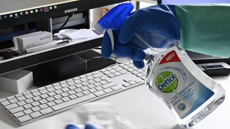 Reinigungen von Büros nehmen ab.