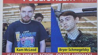 Die Flucht ist zu Ende: Die kanadische Polizei fand offenbar die Leichen der wegen drei Morden gesuchten Teenager. (Archivbild)