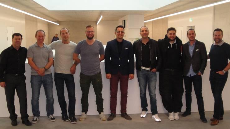 Andreas Eberhard, René Viatte, Pascal Born, Stefan Wyss, Thomas Roth, Roberto De Giorgi, Luca Mele, Michael Bart, Michael Krytzner  (auf dem Bild fehlt: Raphael Biberstein)